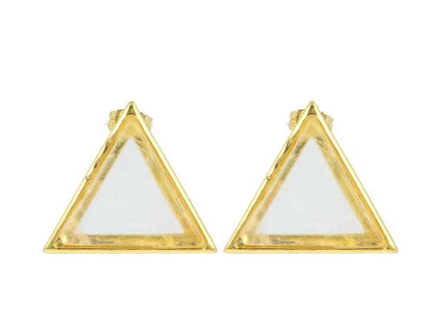 Náušnice křišťál - tvar trojúhelník