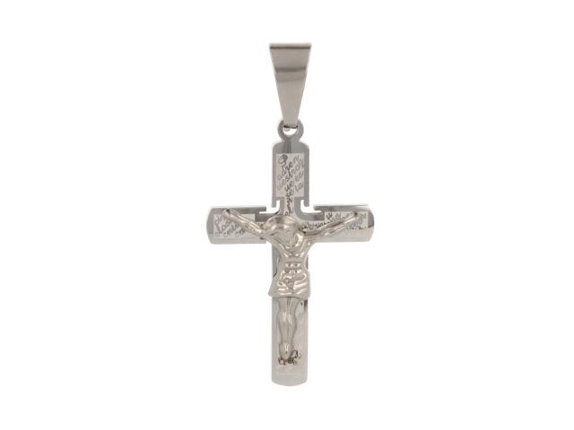 Ocelový přívěsek kříž II