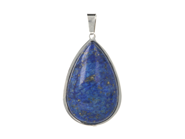 Ocelový přívěsek lapis lazuli ve tvaru slzy