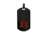 Ocelový podlouhlý ID přívěsek Medical - gunmetal