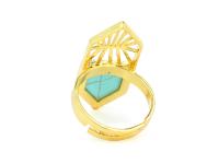 Široký nastavitelný prsten tyrkenit