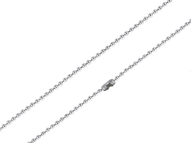 Ocelový řetízek - kuličková - 2mm - 40cm