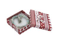 Vánoční dárková krabička Red 90x90x28 mm