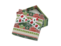 Vánoční dárková krabička Green 60x60x25 mm