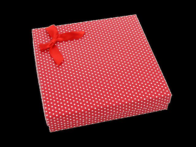 Dárková krabička Dotty 140x140x30 mm