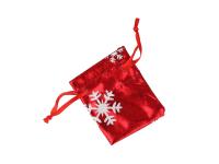 Červený dárkový sáček Vánoce 50x70 mm