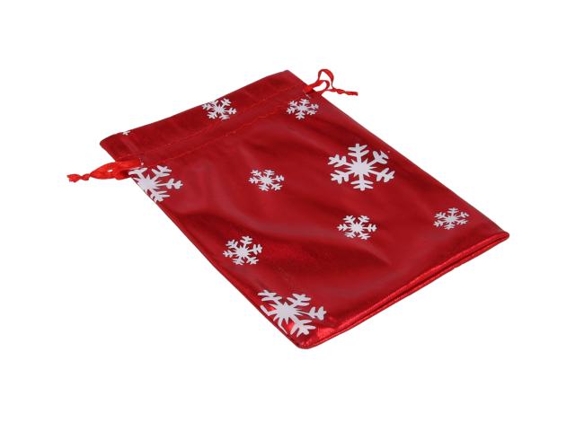 Červený dárkový sáček Vánoce 110x160 mm