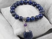Souprava náramek a náušnice lapis lazuli