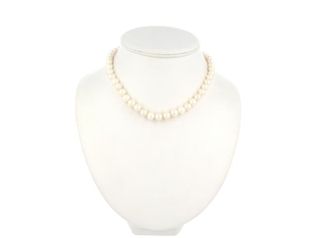 Náhrdelník 9-10mm bílé říční perly (A kvalita)