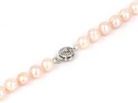 Náhrdelník 8-9mm růžové říční perly