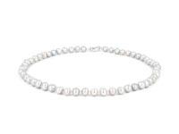 Náhrdelník 8-9mm šedé říční perly