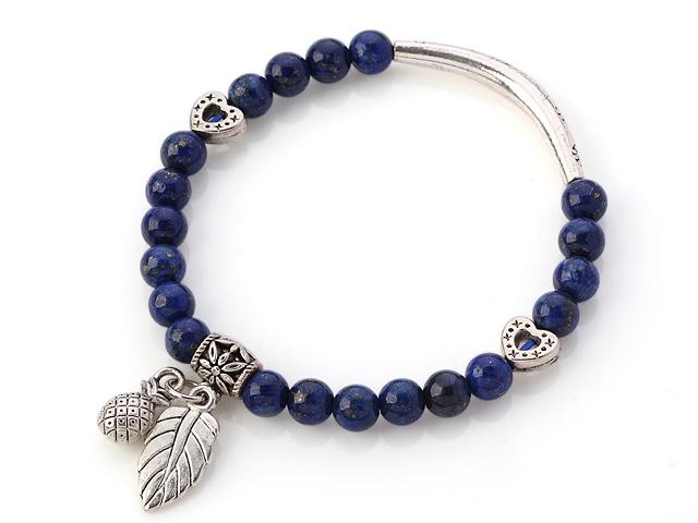 Náramek lapis lazuli a tibetské stříbro