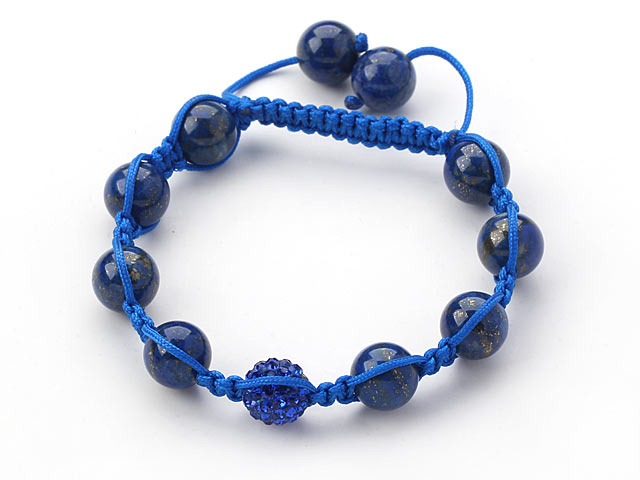 Náramek lapis lazuli a tmavě modrý CZ křišťál