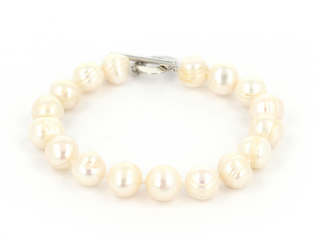 Náramek bílé říční perly