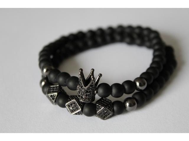 Set náramků - černý onyx