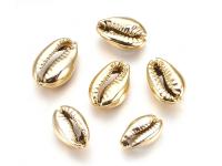 Kovový korálek - mušle Kauri - zlatý