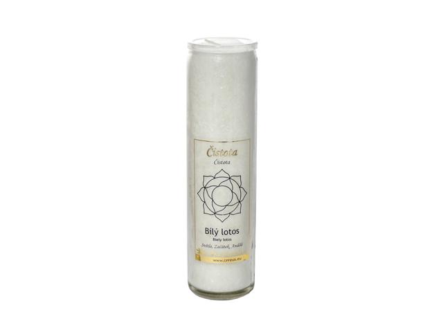 Čakrová svíčka - bílá velká