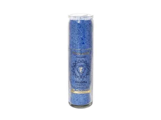 Čakrová svíčka - modrá velká