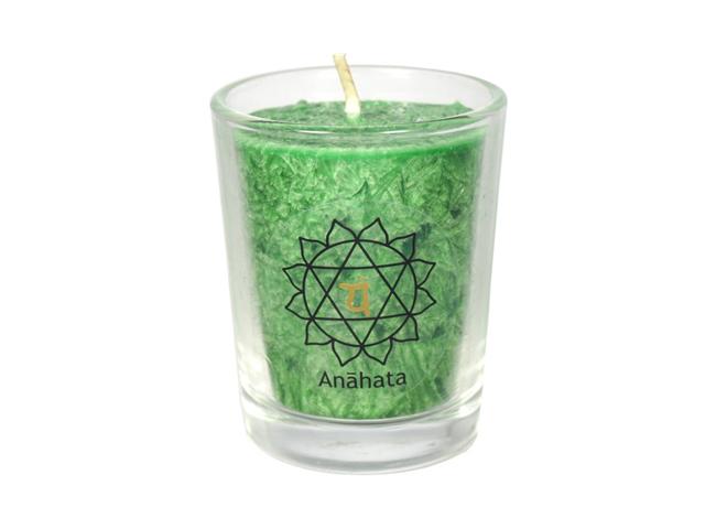 Čakrová svíčka - zelená mini