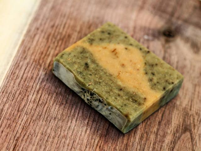 Mýdlo s bambuckým máslem, šalvějí, měsíčkem a kopřivou