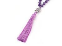 Buddha náhrdelník ametyst se střapcem