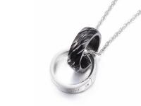 Ocelové náhrdelníky pro páry - prsteny