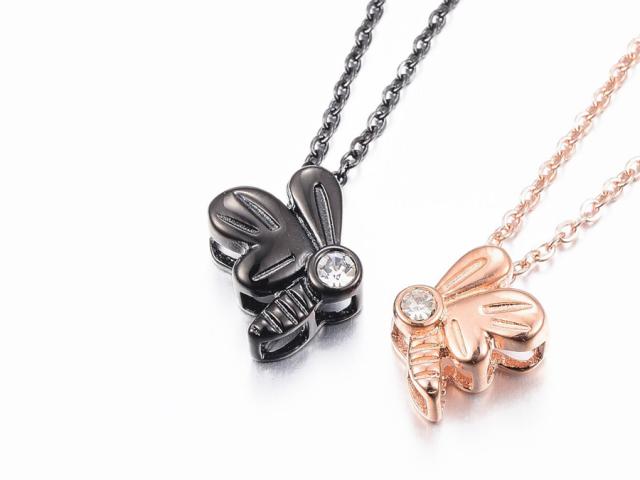 Ocelové náhrdelníky pro páry - včeličky
