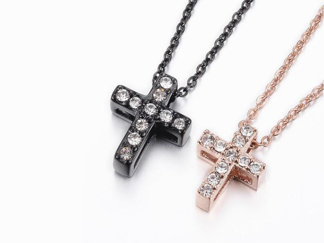 Ocelové náhrdelníky pro páry - křížky