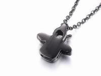 Ocelové náhrdelníky pro páry - anděl a čert