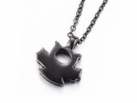 Ocelové náhrdelníky pro páry - čert a anděl
