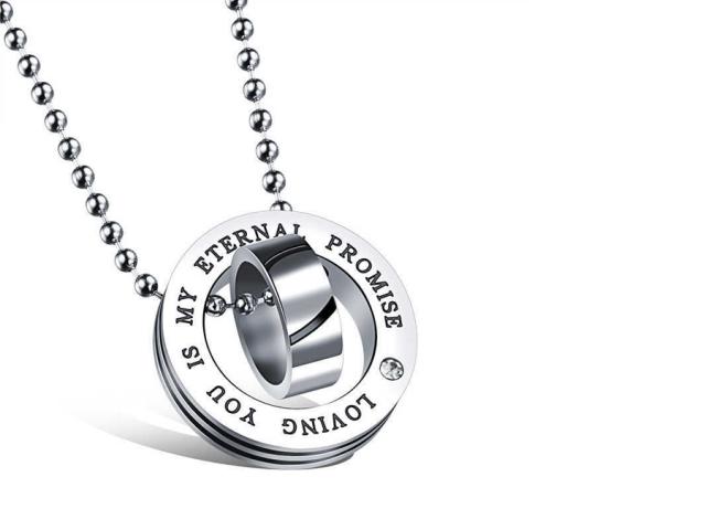 Ocelový náhrdelník Eternal promise