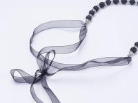 Souprava náhrdelník a náušnice lávový kámen
