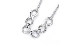 Ocelová souprava náhrdelník, náramek a náušnice Infinity