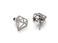 Ocelové náušnice Diamond