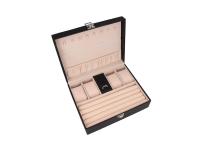 Čierna šperkovnice z ekokůže 240x190x80 mm