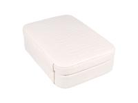 Bílá šperkovnice z ekokůže 210x150x60 mm