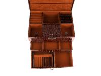 Hnědá šperkovnice z ekokůže 295x200x226 mm